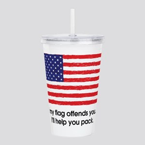 Flag Offends Acrylic Double-wall Tumbler